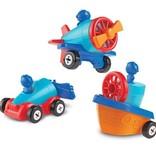 1-2-3 Build it car/plane set