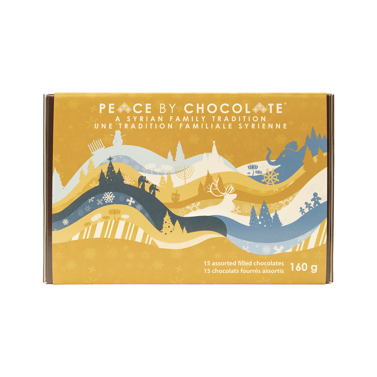 Peace By Chocolate 15 Assorted Holiday Chocolates single