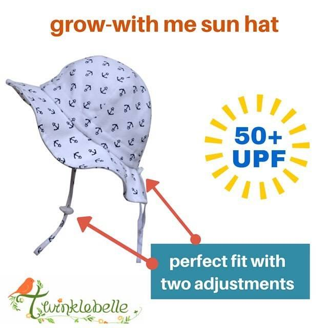 Twinklebelle Grow-With-Me Sun Hat, Cotton