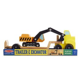 Melissa & Doug Melissa & Doug Trailer and Excavator