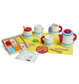 Melissa & Doug Melissa & Doug Wooden Steep & Serve Tea Set