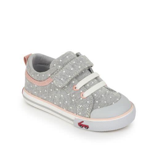 See Kai Run See Kai Run Kristin Size 7 Gray Jersey Dots