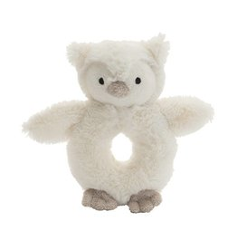 Jellycat Jellycat Bashful Owl Ring Rattle