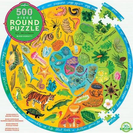 EeBoo eeBoo Biodiversity 500 Piece Round Puzzle