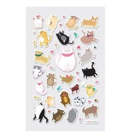 Ooly ITSY BITSY STICKERS - PUFFY PETS (1 SHEET)