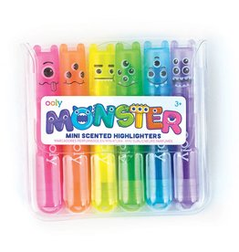 Ooly MINI MONSTER SCENTED HIGHLIGHTER MARKERS - SET OF 6