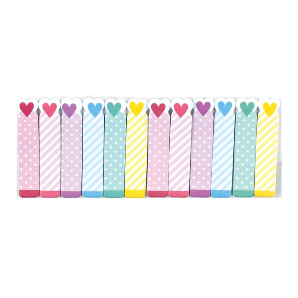 Ooly NOTE PALS STICKY NOTE PAD -Rainbow Hearts (1 PACK)