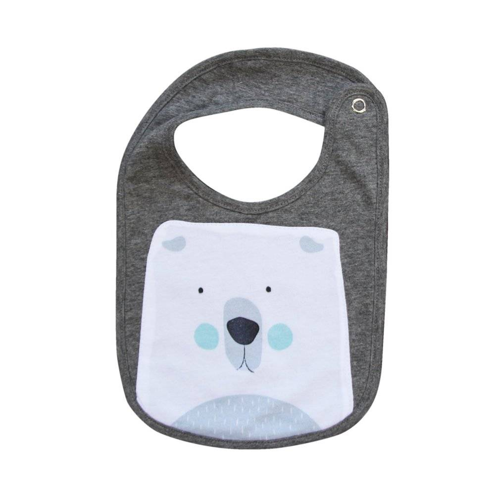 Mister Fly Mister Fly Polar Bear Animal Face Bib
