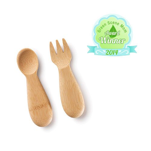 Bambu Baby's Fork and Spoon (Set of 2)