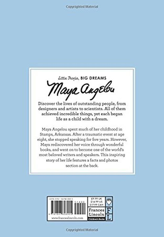 Quarto Little People Big Dreams Maya Angelou
