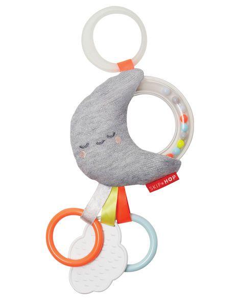 Skip Hop Skip Hop Silver Lining Rattle Moon Stroller Toy
