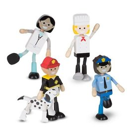 Melissa & Doug Melissa & Doug Wooden Flexible Figures - Careers