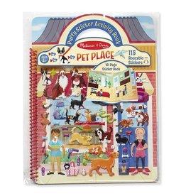 Melissa & Doug Melissa & Doug Reusable Puffy Sticker Activity Book Pet Place
