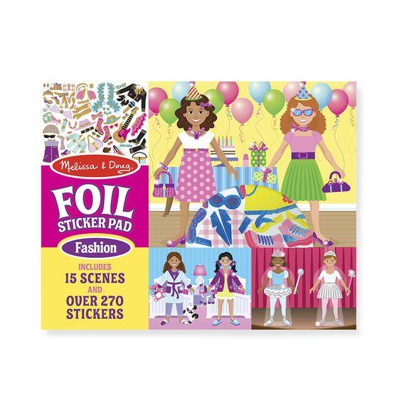 Melissa & Doug Melissa & Doug Fabulous Foil Sticker Pad - Fashion
