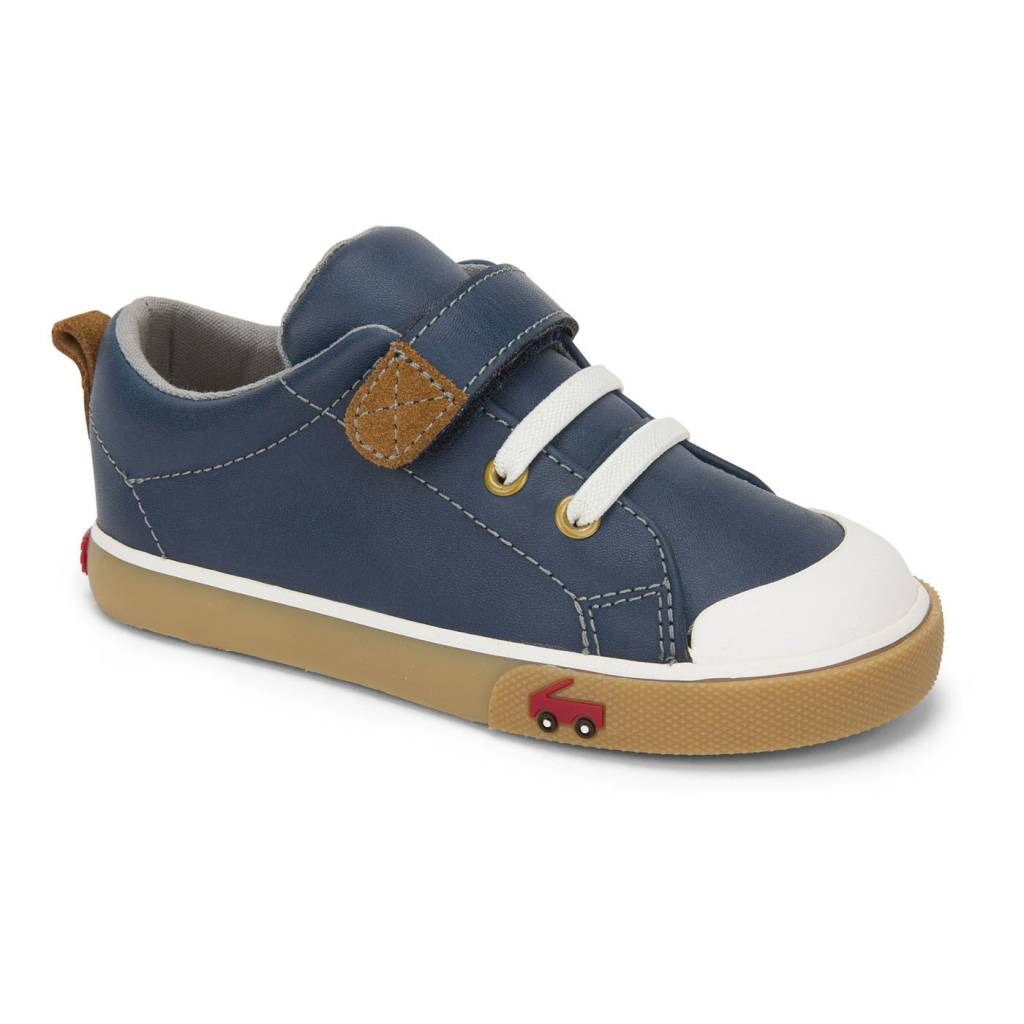See Kai Run Stevie Ii Navy Leather Kids Shoes