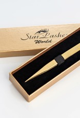 World Beauty University Straight Gold Tweezers for Classic Method