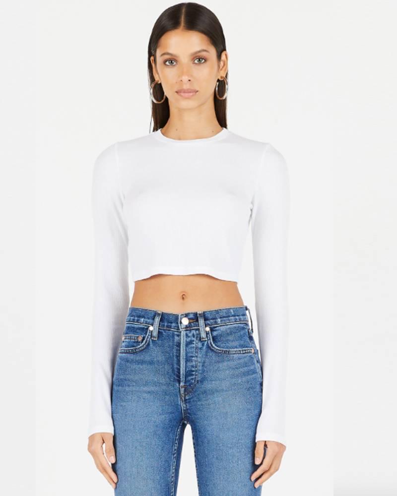 Cotton Citizen Venice Crop Shirt White