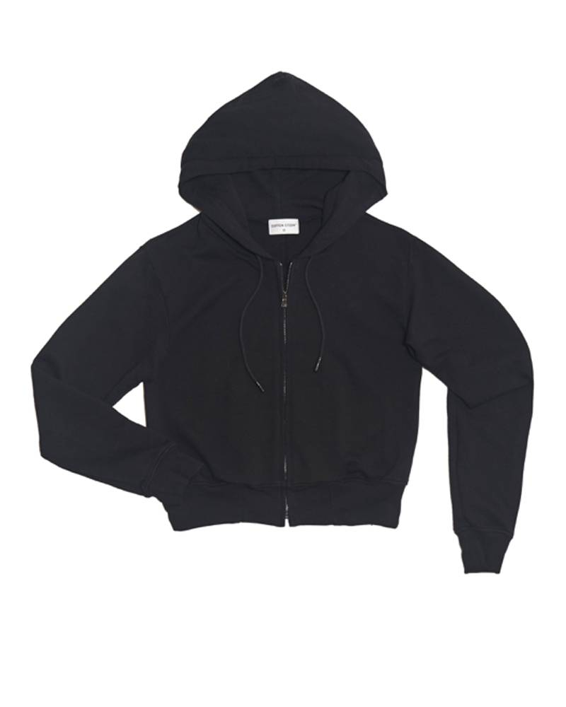 Cotton Citizen Milan Zip Hoodie Black