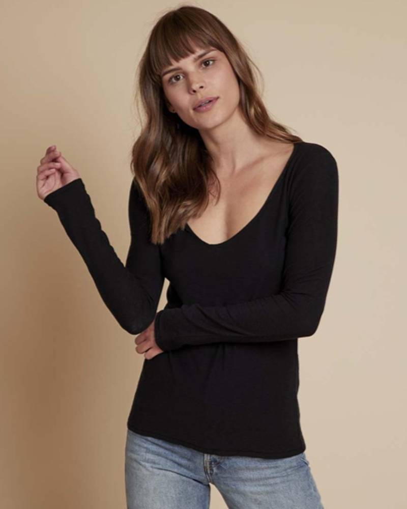 Nation Jet Black Florence Sweetheart Long Sleeve