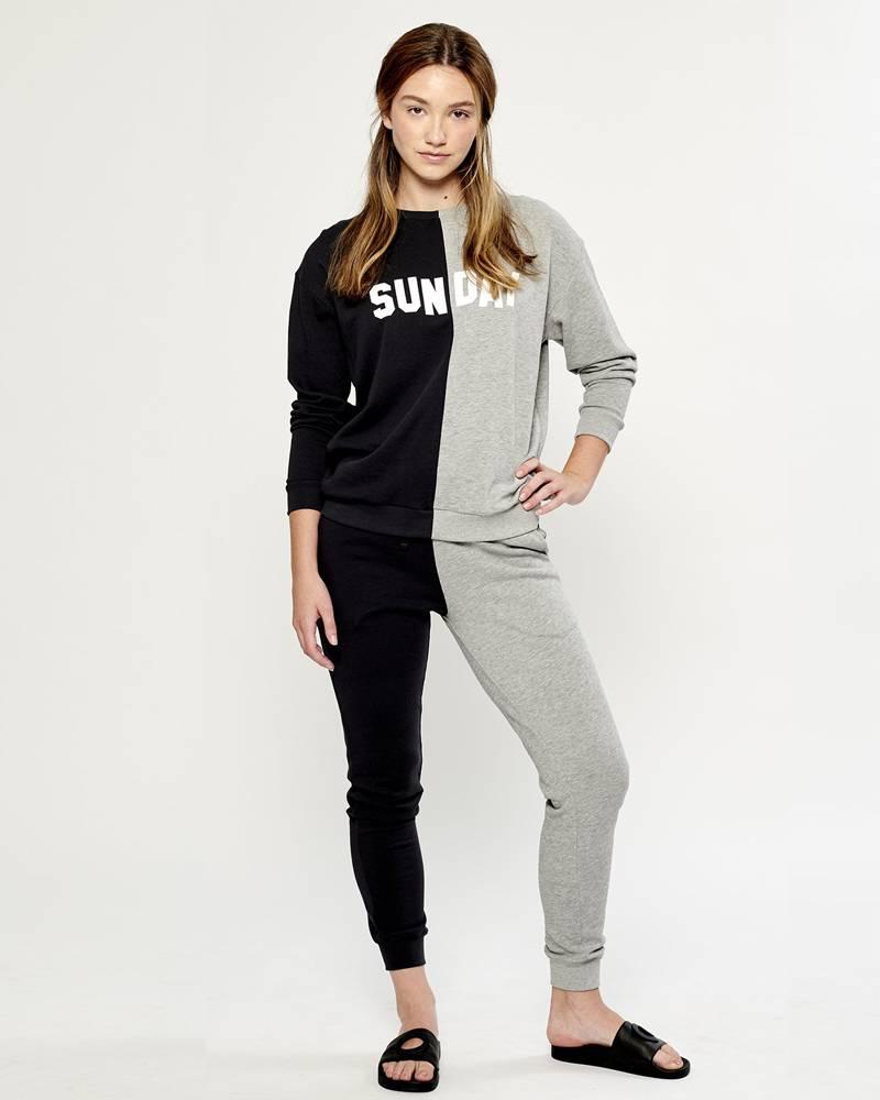 South Parade Bi Color - Black and Gray Sweatpant