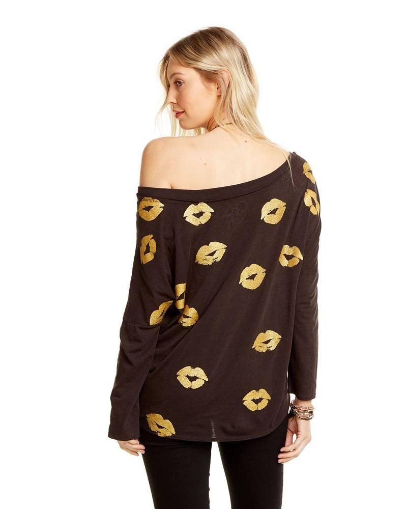CHASER Golden Kisses Vintage Jersey Dropped Shoulder