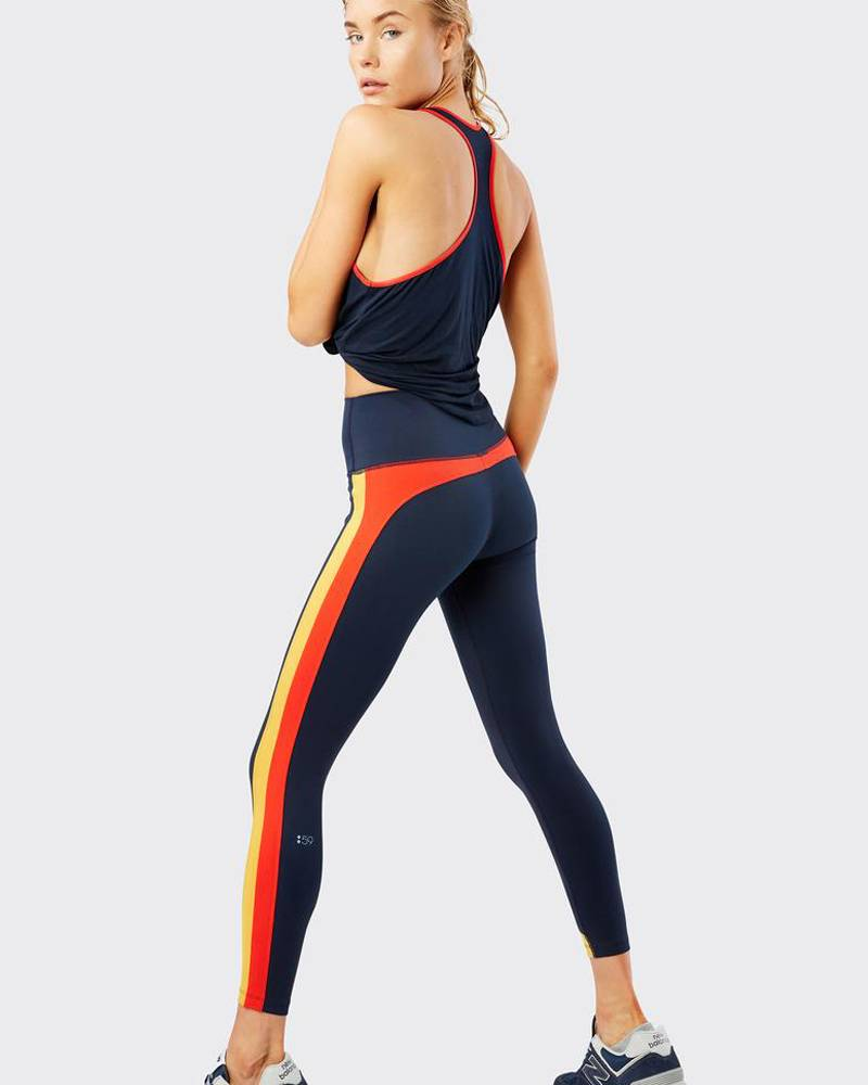 Splits59 Freestyle High Waist Tight Indigo/Gold/Sunset