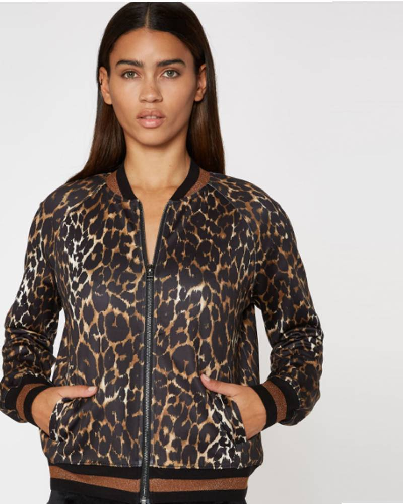 Pam and Gela Leopard Track Jacket
