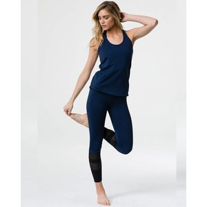 Onzie Heather Thunder Black 7/8 Racer Midi Legging
