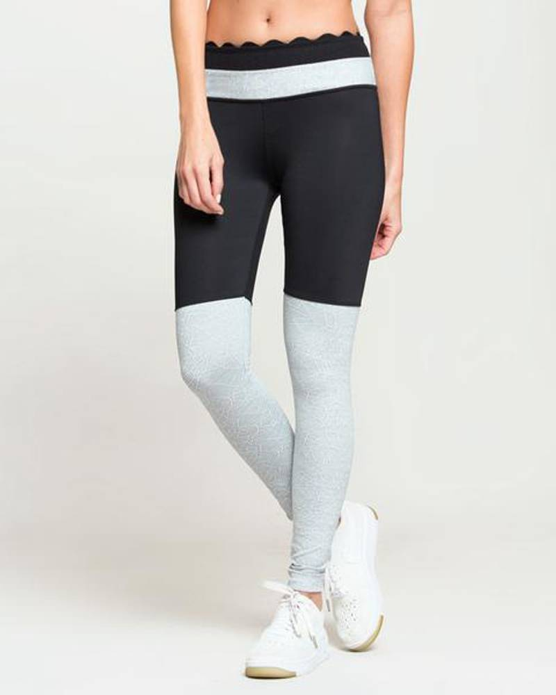 Black/Silver Bicoastal Legging