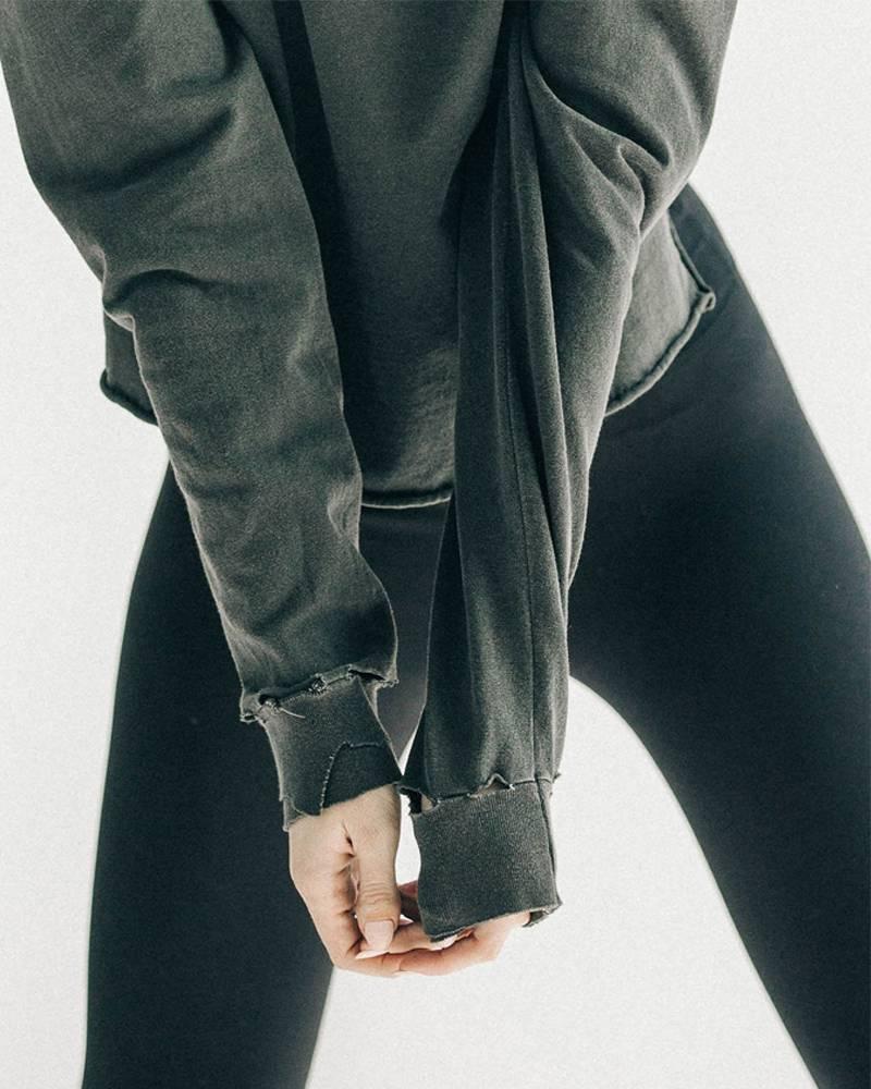 Joah Brown Soho Long Sleeve Black Cotton