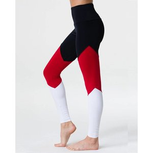 Onzie Black Red Combo High Rise Track Legging
