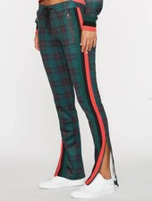 Pam and Gela Steward Green Cigarette Track Pant