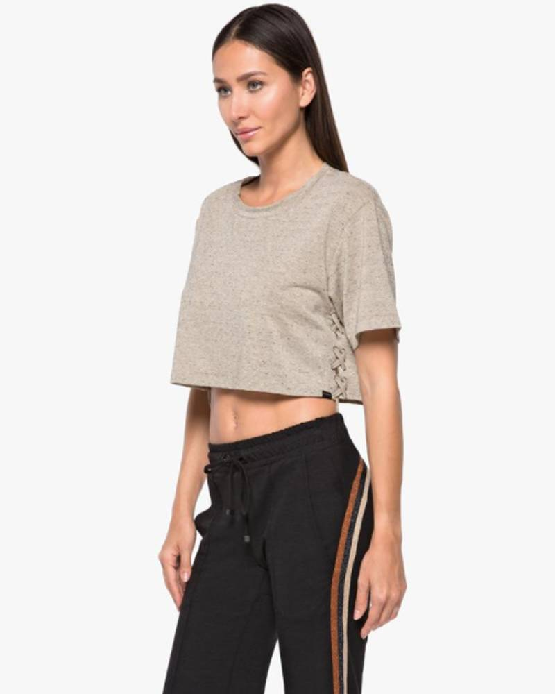 Koral Terra Luxe Gold Heather Crop Top