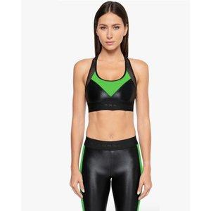 Koral Emblem Infinity Black/Verde Sports Bra