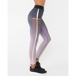 Ultracor Ultra High Gradient Slash Legging Blush Metallic Rose