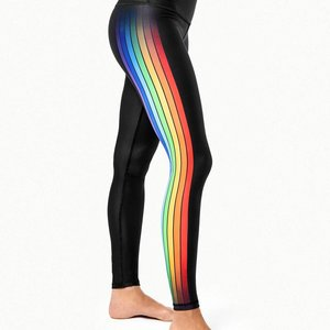 Playground Fame Track Multi Rainbow Stripe Legging