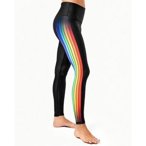 Playground Fame Track Multi Rainbow Stripe Legging