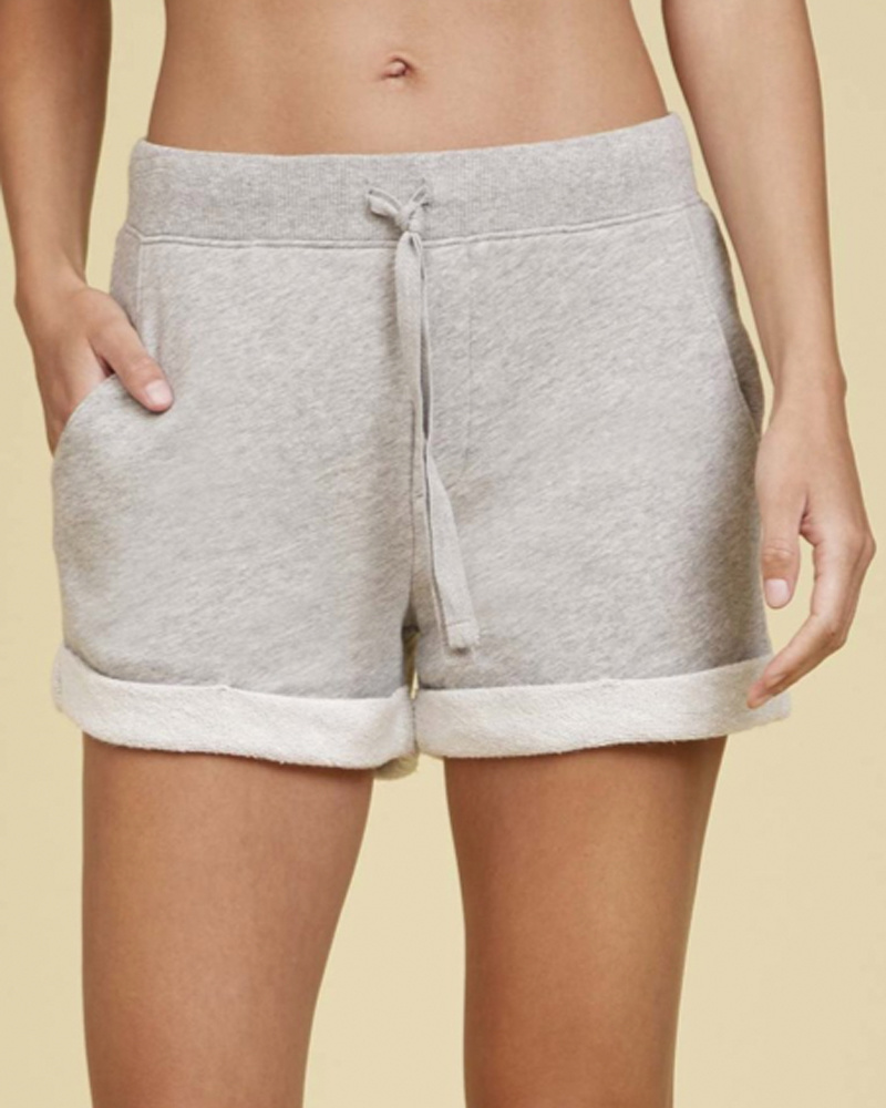 Nation Dorcie Rolled HW Gym Shorts Grey