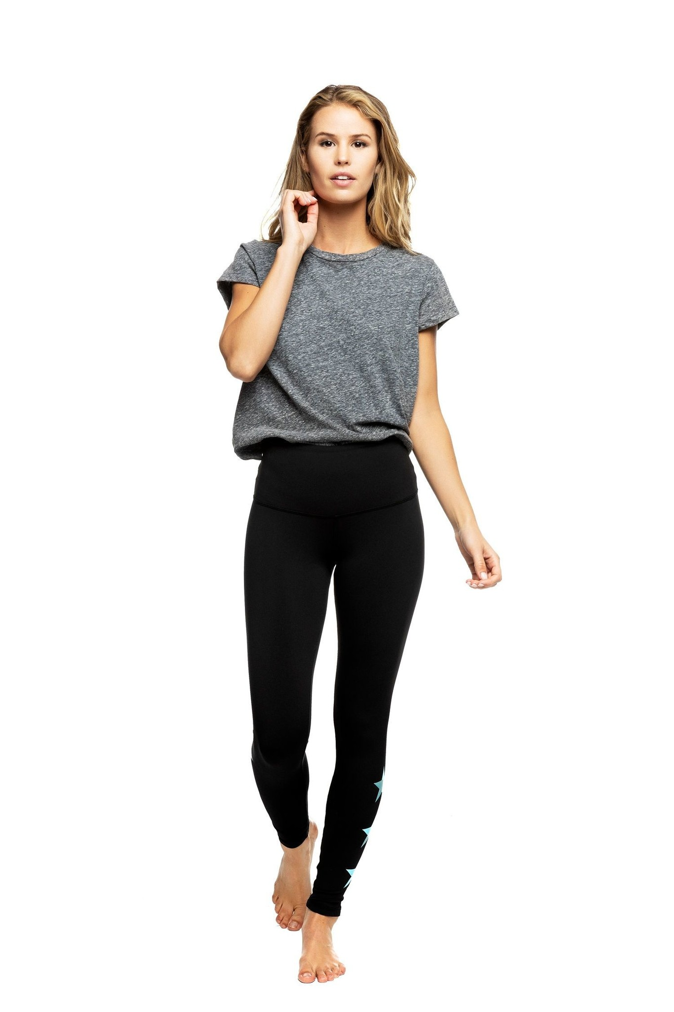 Strut This Star Ankle Black/Teal Legging