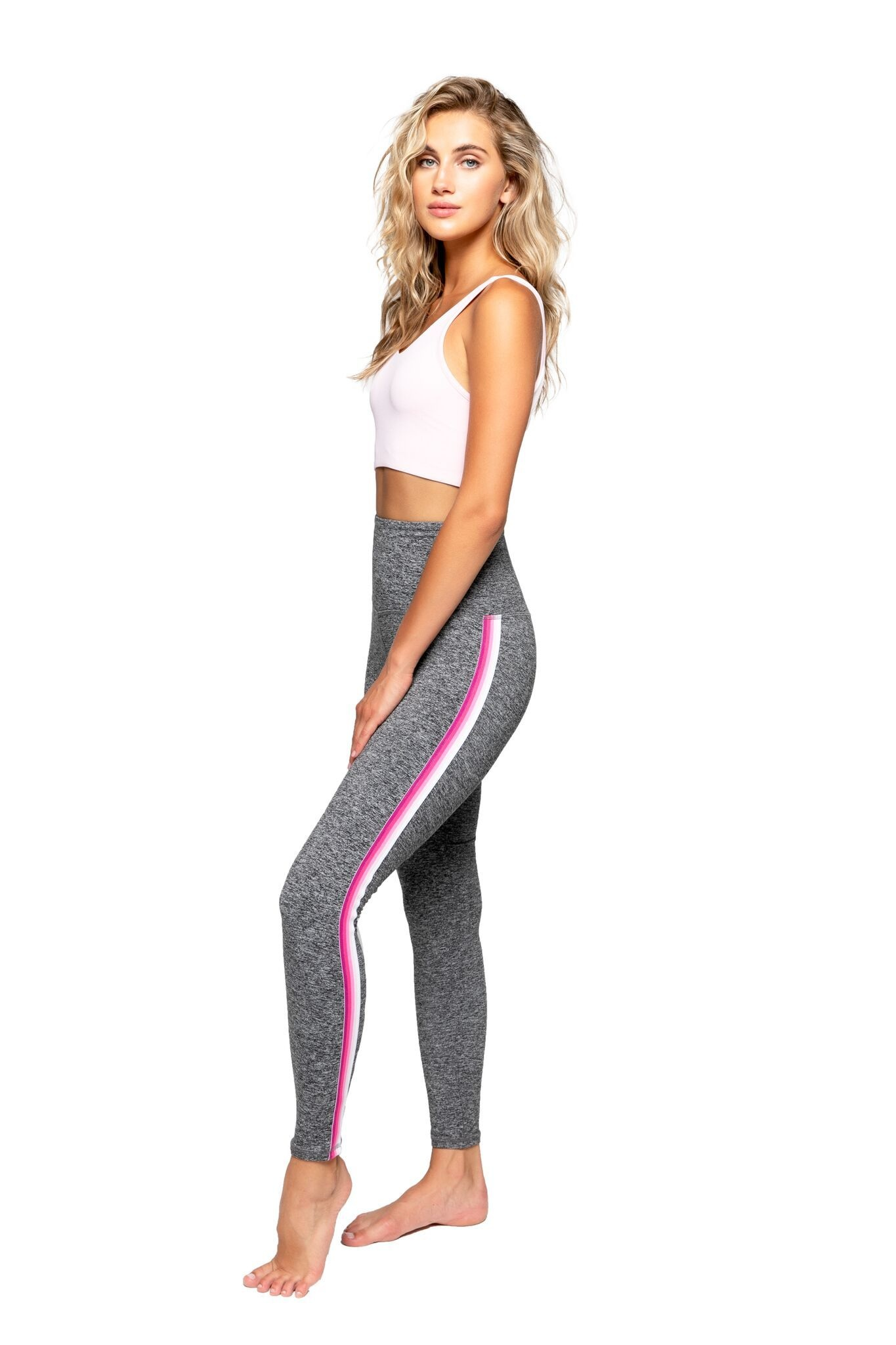 Strut This Sage Ankle Grey Moss/Ombre Pink Legging