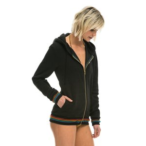 Aviator Nation Prism Zip Hoodie Black