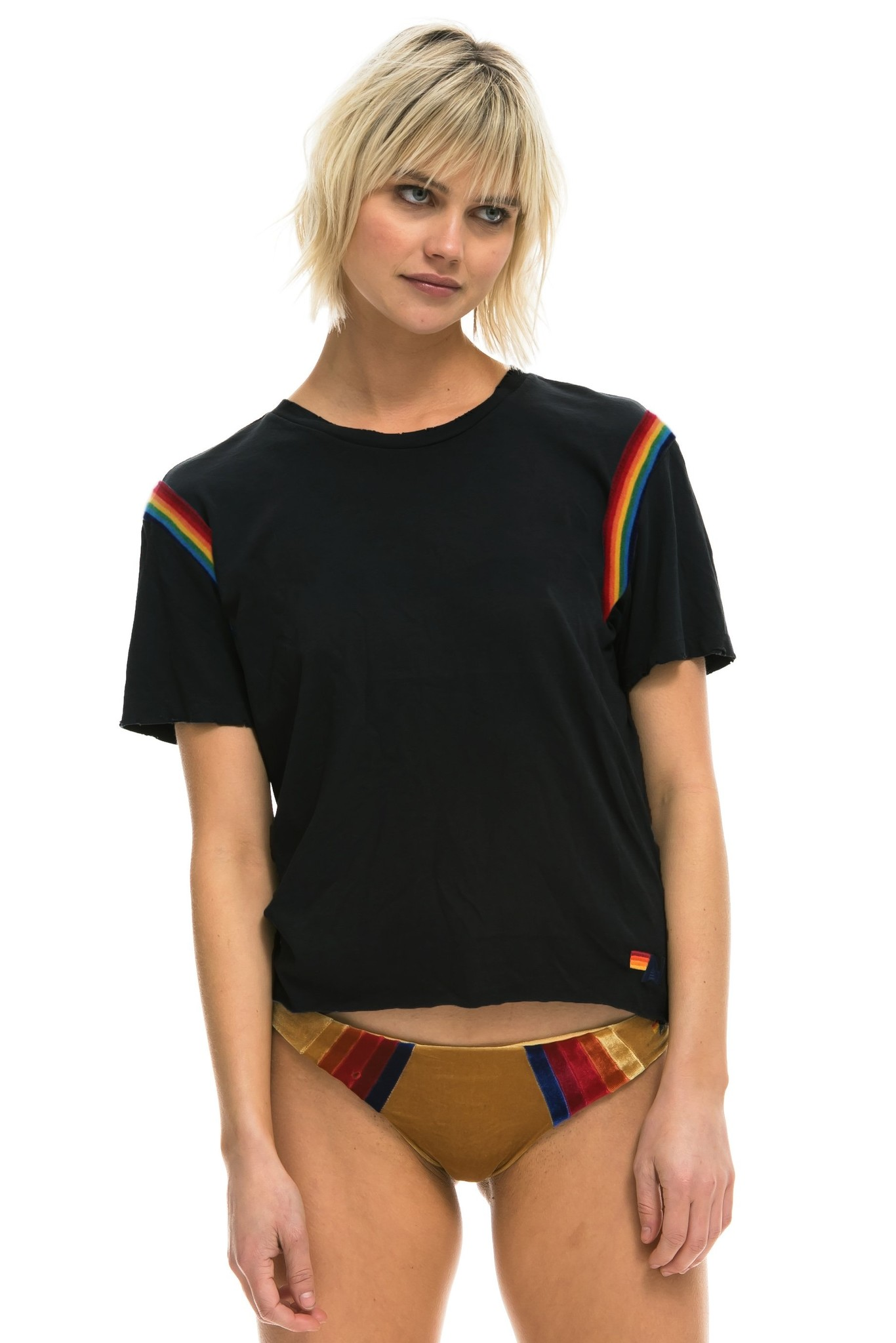Aviator Nation Prism Boyfriend Tee Black