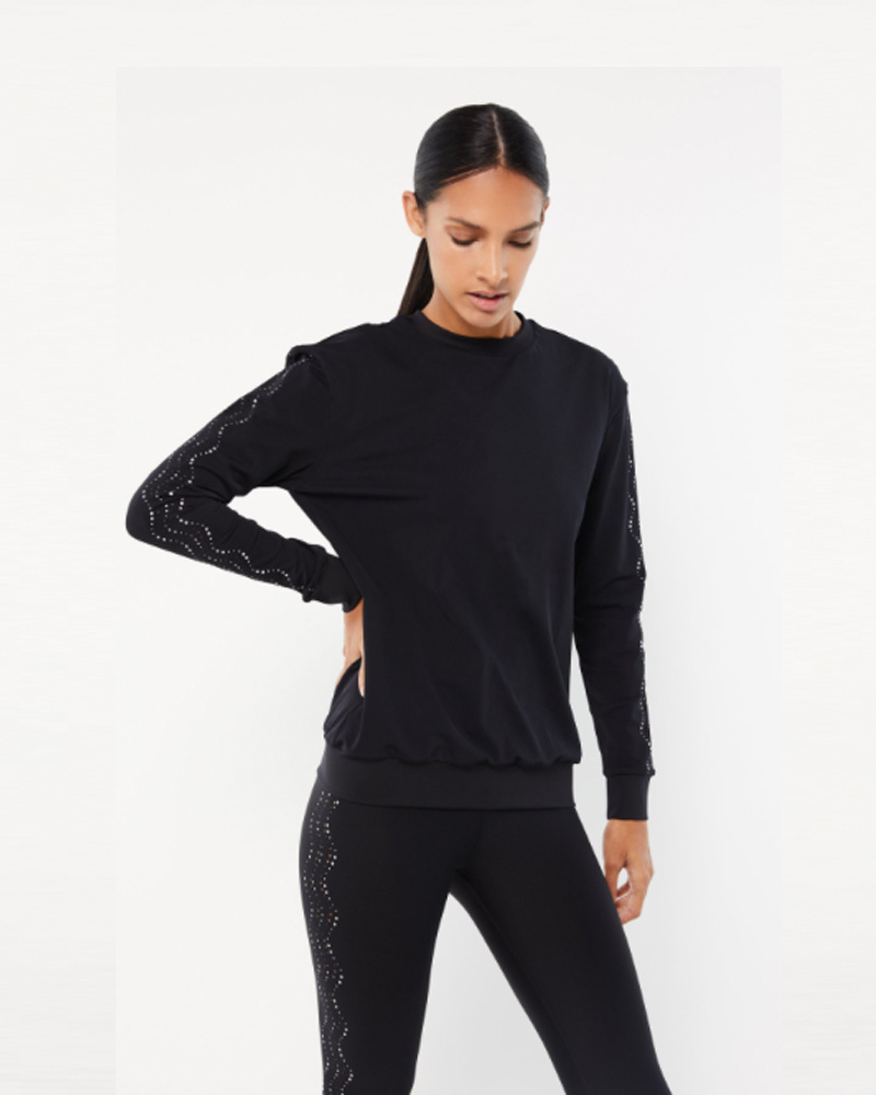 Ultracor Surface Current Pixelation Sweatshirt Nero Holograph