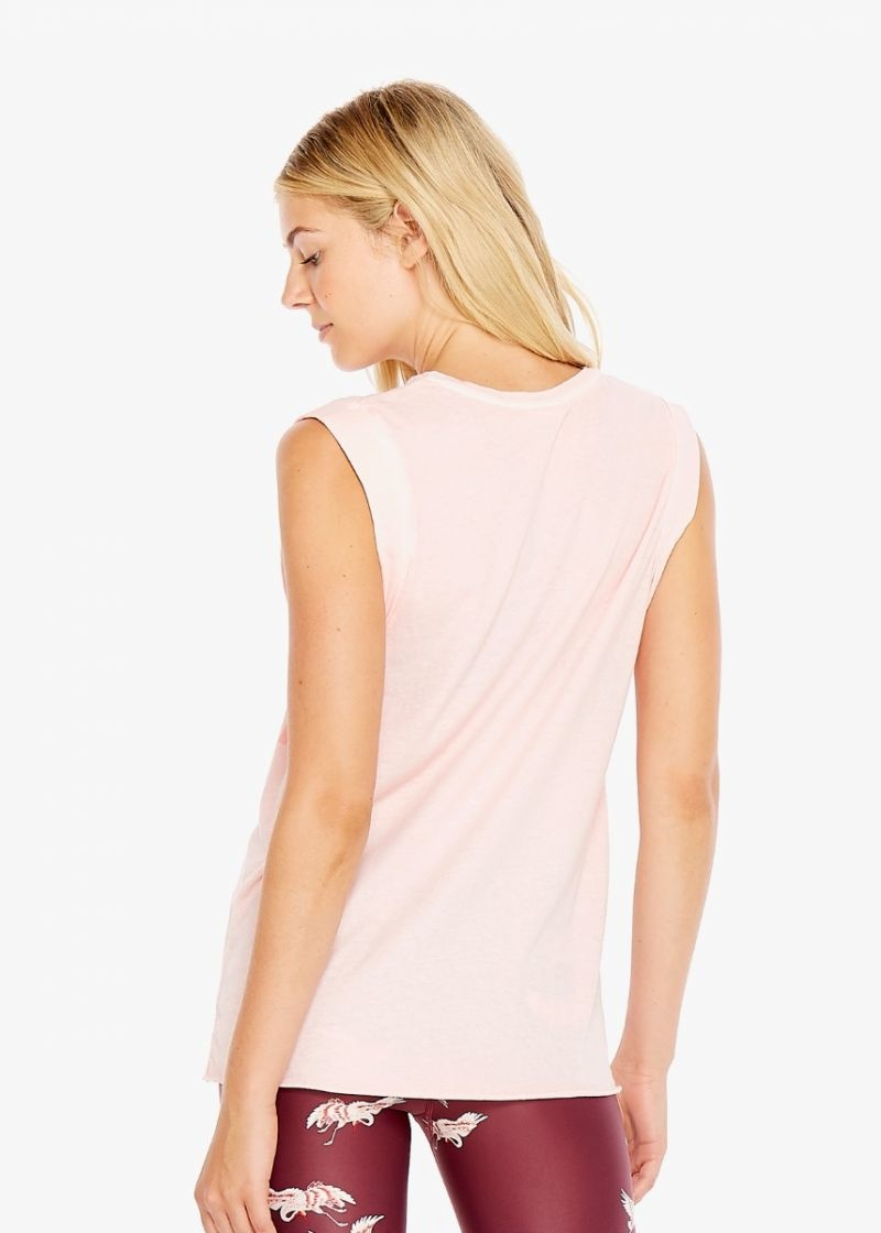 The Upside Pink Vintage Muscle Tank