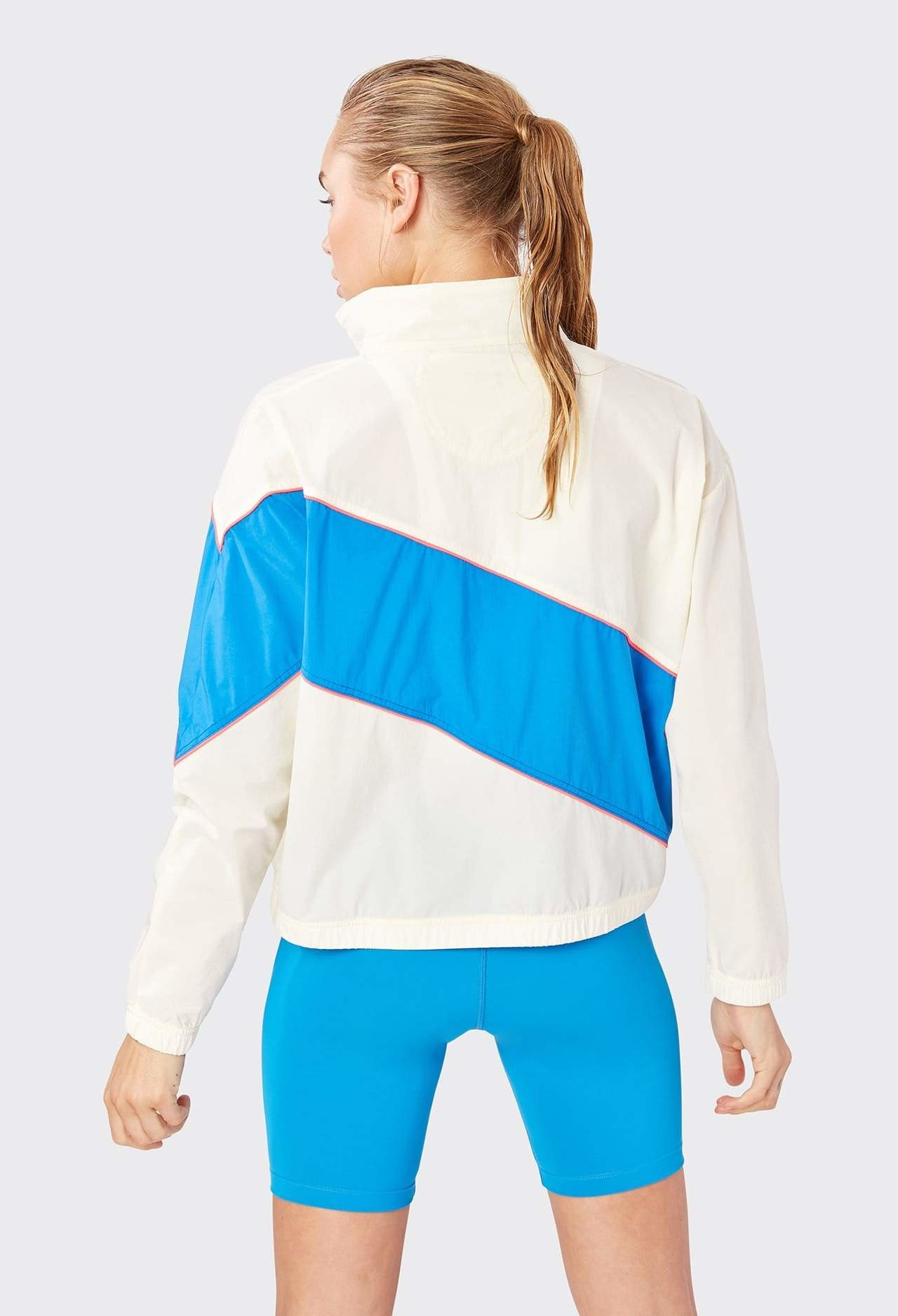 Splits59 Playoff Jacket Off White/Neon Multi