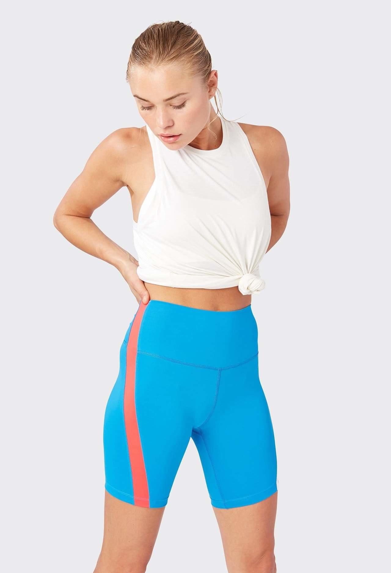Splits59 Link HW Biker Shorts Neon Blue/Multi