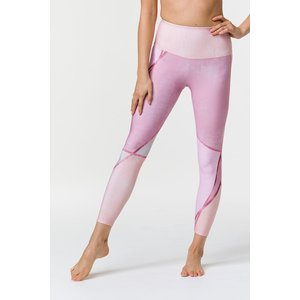 Onzie Graphic High Rise Midi Legging Rose Gold