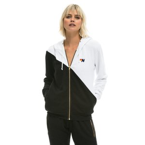 Aviator Nation Glider Zip Hoodie Blk/White