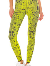 Ultracor Ultra High Python Neon Yellow Textured Nero Legging