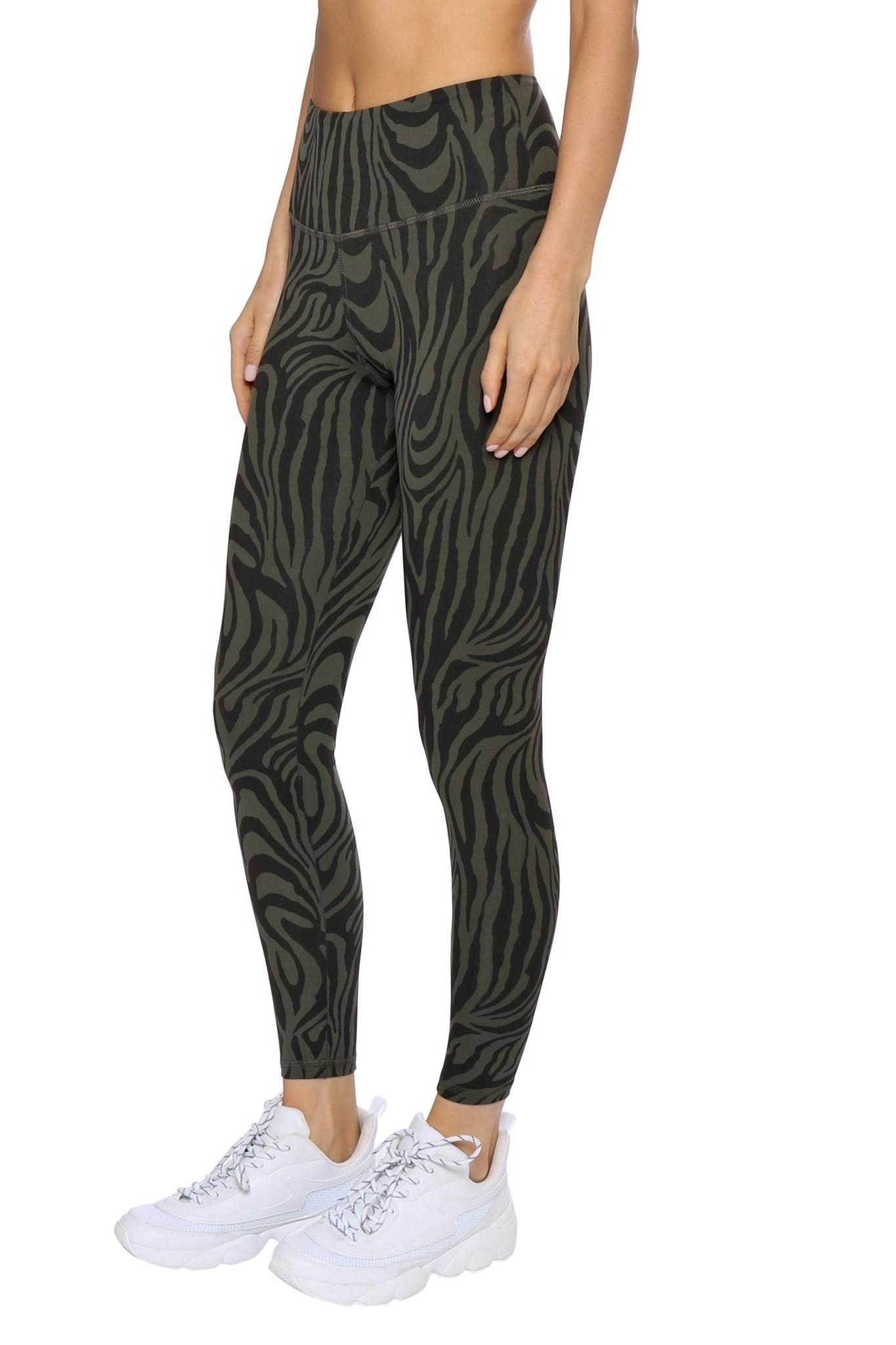 Teagan Ankle Olive Zebra